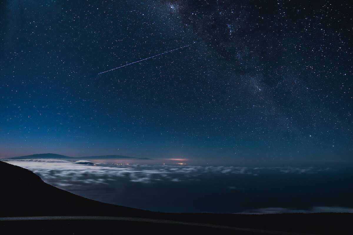Stars on a clear night above Hawaii