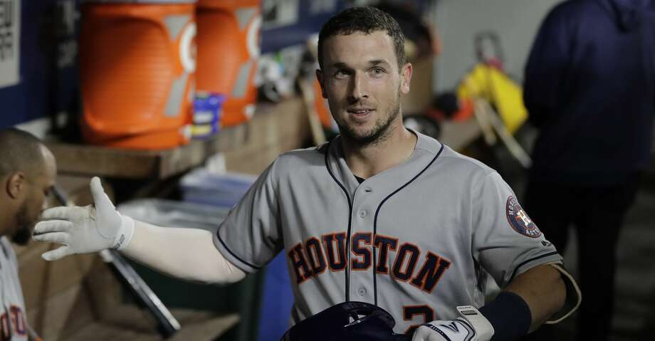 PHOTOS: Astros game-by-game Houston Astros' Alex Bregman reacts in the dugout after hitting a solo home run during the fourth inning of the team's baseball game against the Seattle Mariners, Tuesday, Sept. 24, 2019, in Seattle. (AP Photo/Ted S. Warren) Browse through the photos to see how the Astros have fared in each game this season. Photo: Ted S. Warren/Associated Press