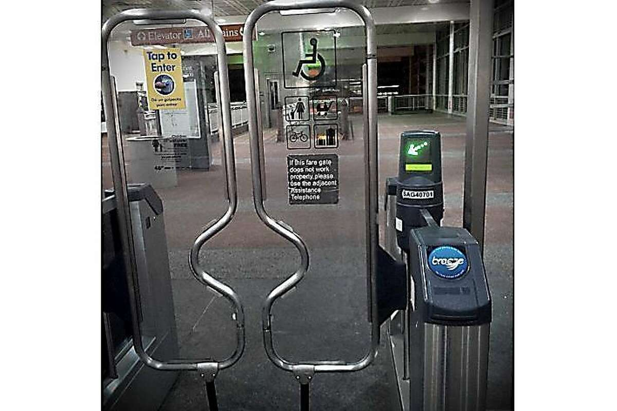 BART is proposing a fare gate to stop rampant fare evaders. In a September 2019 report, BART endorsed a plexiglass gate with panels that swing open after a person swipes in. The gates are similar to the fare gates at Muni but taller and sturdier.