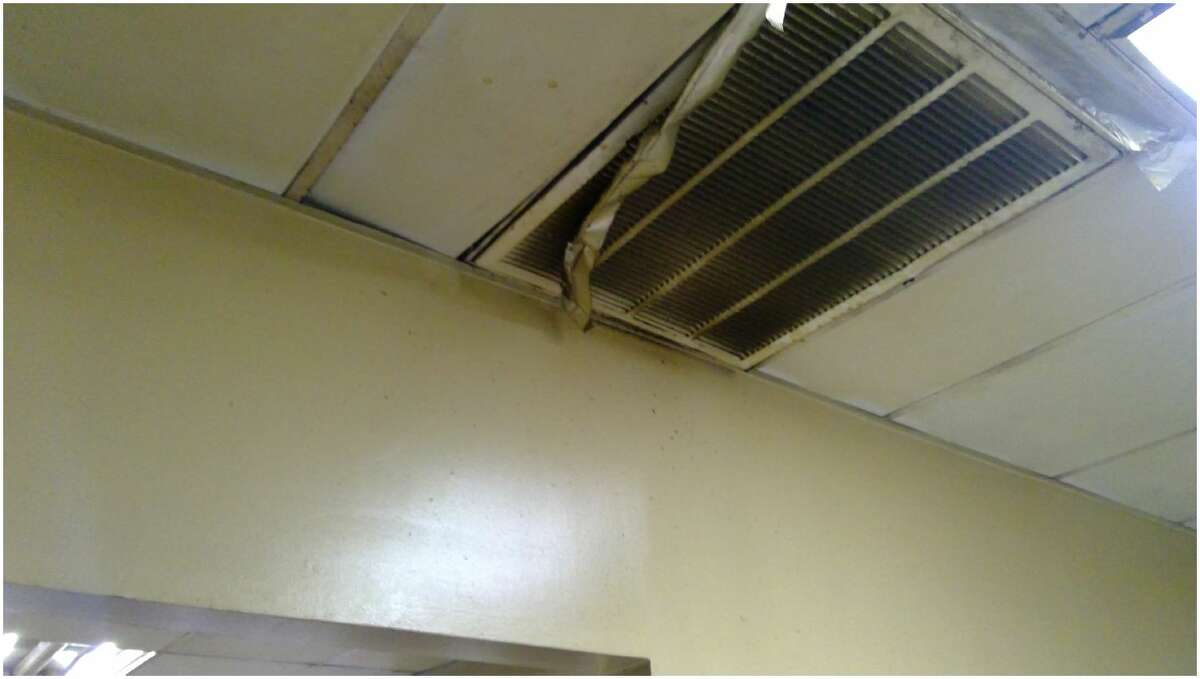 Restaurant Mar-La:5904 McPherson Ceilings, walls, and floors must be cleaned and maintained to prevent contamination of food.