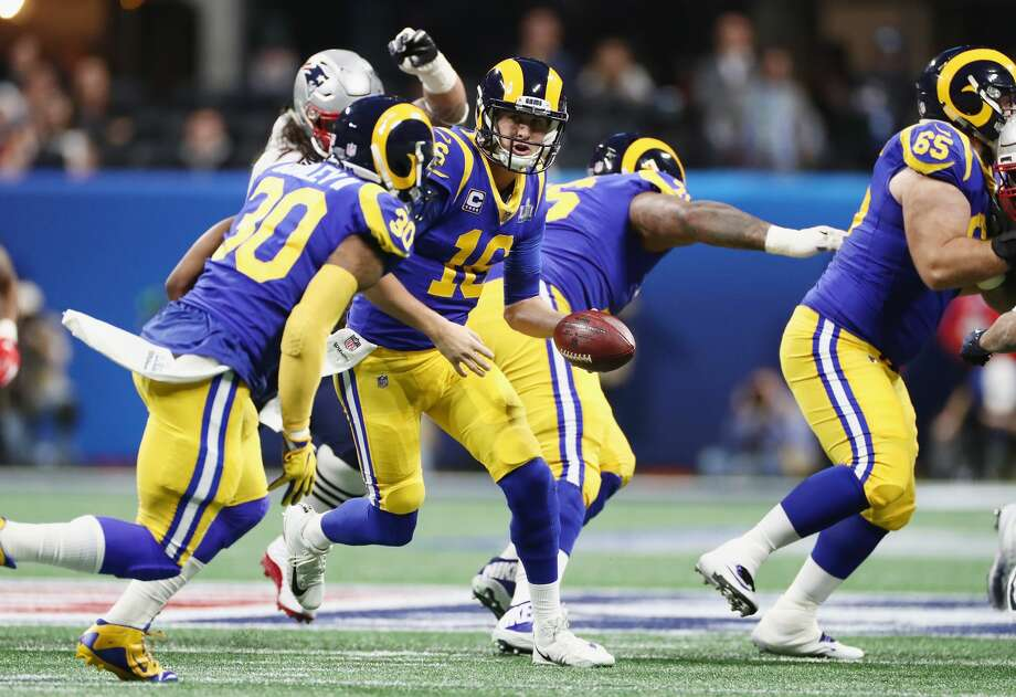 """What you've seen out of Rams All-Pro running back Todd Gurley early in the season? Carroll: """"Just hasn't been quite as explosive as (their offense) has been. (Goff) threw for (520 yards) Sunday and that's pretty big, but the games they've had have been tough games. All their games have been fought hard to get the win. Yesterday, they were fighting from behind (vs. the Buccaneers) the whole time, so that was really unusual for them.  """"(Goff) is working hard. The numbers aren't there in support of how he finished last season … This year, they're not quite there yet. But they're a very very dangerous football team, and he leads a big-time football attack.""""  Photo: Jamie Squire/Getty Images"""
