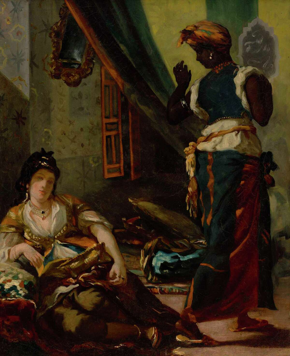 """Eugene Delacroix's """"Women of Algiers in Their Apartment,"""" from 1833-84, is an early version of one of the Romantic era masters' best-known compositions."""