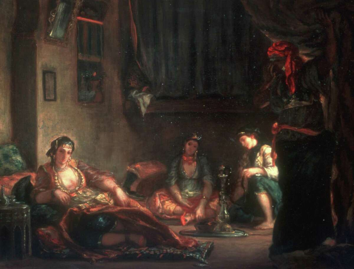 """Delacroix painted his last version of """"Women of Algiers"""" in 1849. Darker than the most famous monumental version painted in 1834 for the French Academy's Salon, this canvas belongs to the Musée Fabre in Montpellier, France."""