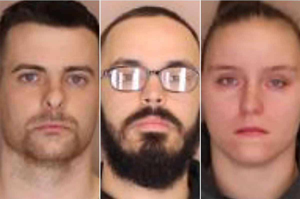 Left to right: Ryan P. Harrington, 23, Joshua M. Riley, 25 and Hera T. Merritt, 24.