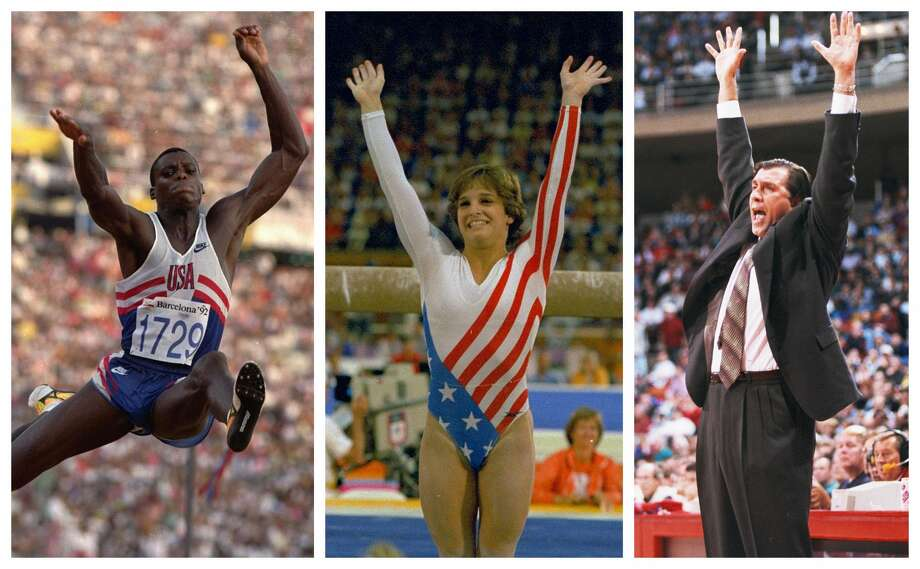 PHOTOS: 2019 Houston Sports Awards  From left, Olympic gold medalists Carl Lewis and Mary Lou Retton and former Rockets coach and player Rudy Tomjanovich, will be honored as the third set of Houston sports greats selected for the Houston Sports Hall of Fame. >>>Look back at photos from last year's Houston Sports Awards ...  Photo: Associated Press File Photos; Houston Chronicle (Houston Post File)