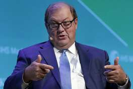 Gary Heminger, Chairman and CEO of Marathon Petroleum Corp. comments during a Leadership Dialogue session on the second day of CERAWeek by IHS Markit at the Hilton Americas-Houston Hotel Tuesday, Mar. 12, 2019 in Houston, TX.