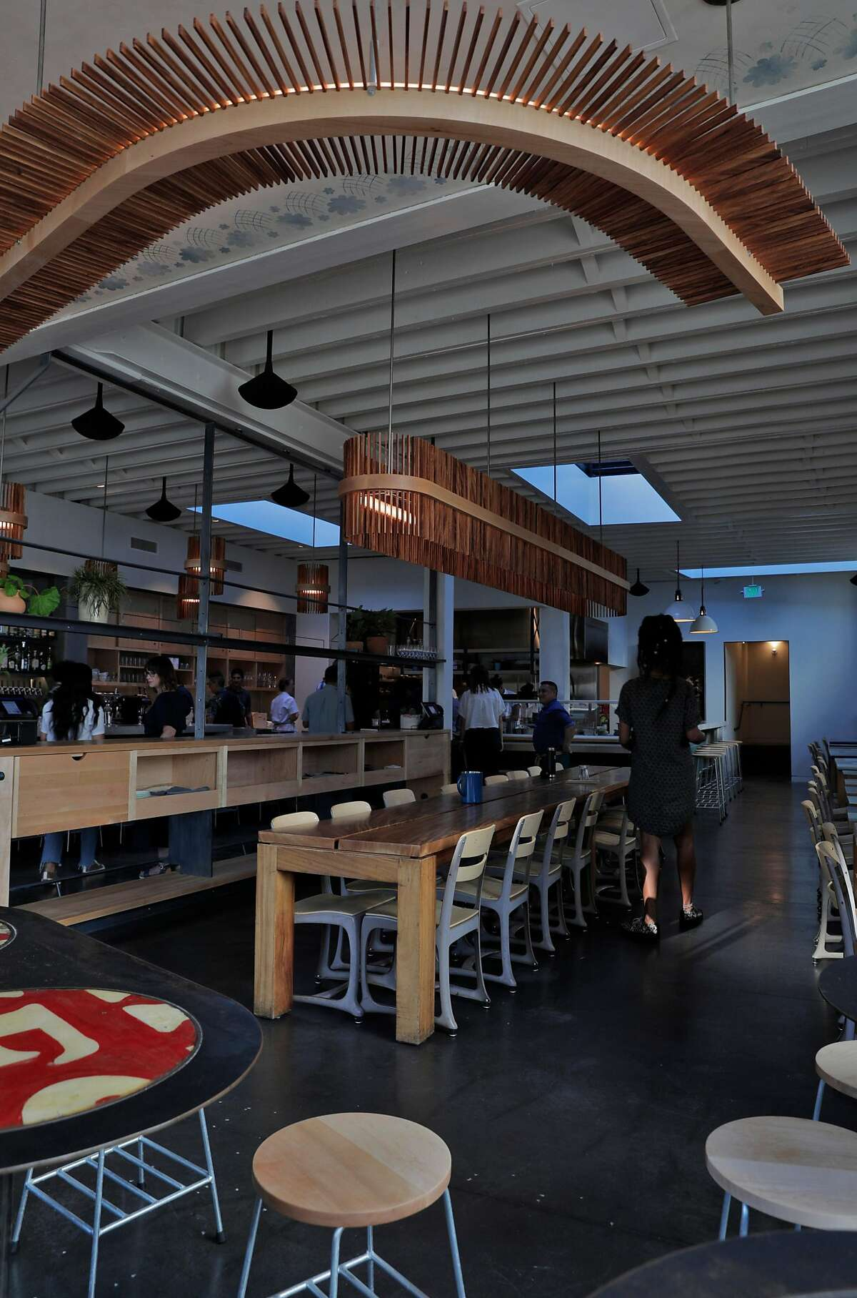 The dining room of Dear Inga, a new Eastern European restaurant opening on 18th Street in the Mission District in San Francisco, Calif., on Tuesday, September 24, 2019. The restaurant is named after the chef David Golovin's grandmother.