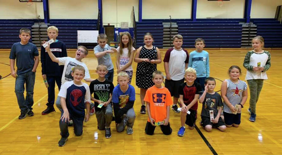 Bad Axe Middle School hosted its second annual Respect assembly this week, recognizing student's birthdays from July, August and September as well as some other fall extracurricular activities and gold card drawings. Photo: Courtesy Photo