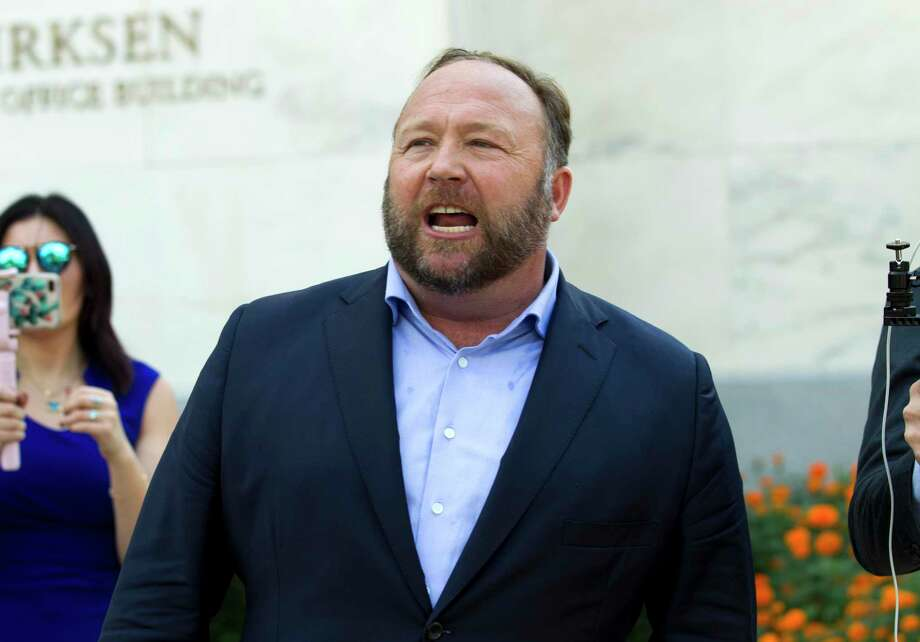 Conspiracy theorist Alex Jones, in a 2018 file photo. Photo: Jose Luis Magana / Associated Press / Copyright 2018 The Associated Press. All rights reserved