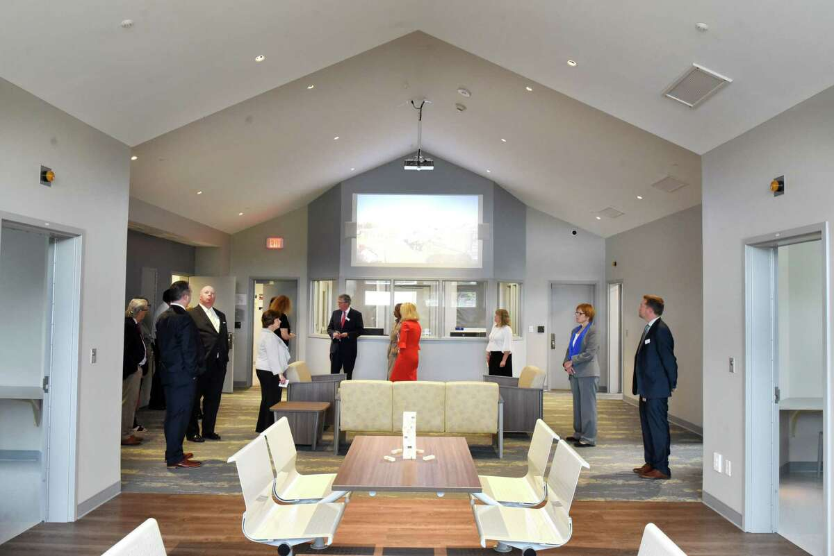 Living space inside the new $10 million Behavioral Health Care Center at Northern Rivers Family of Services on Thursday, Sept. 26, 2019, in Albany, N.Y. (Will Waldron/Times Union)