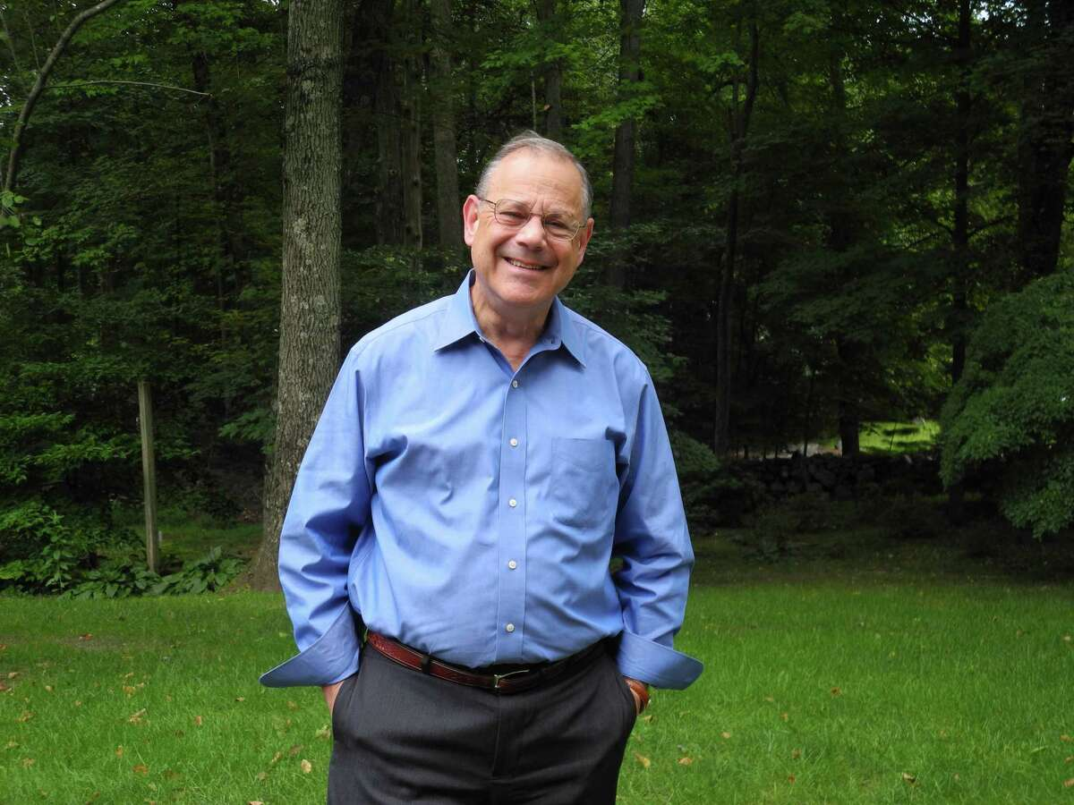 Ross Tartell, a candidate for Board of Selectmen, at his home in Wilton.