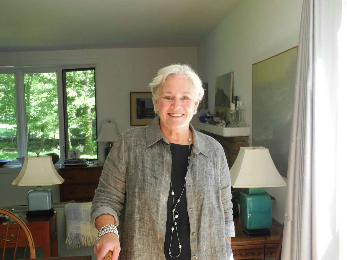 Ceci Maher, Democratic candidate for selectman, at her home in Wilton.