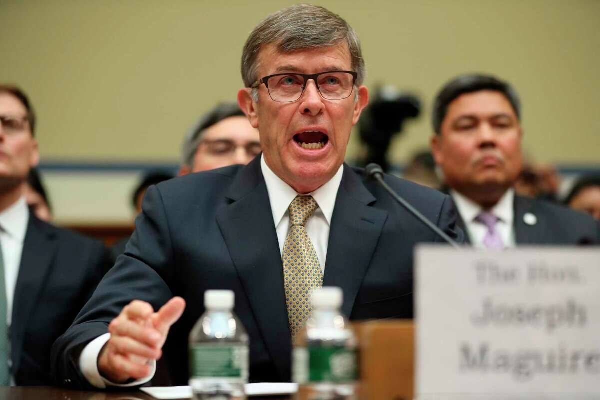 Acting Director of National Intelligence Joseph Maguire testifies before the House Intelligence Committee on Capitol Hill in Washington, Thursday, Sept. 26, 2019.