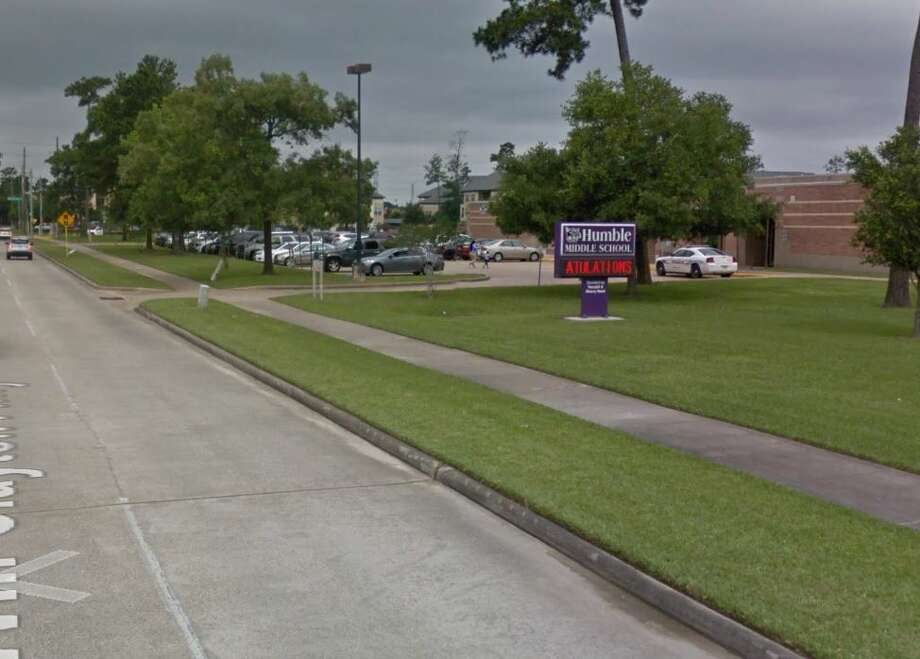 A student was hit at the corner of Will Clayton Parkway and Woodland Hills Drive around 7:20 a.m. Thursday, according to Humble ISD. Photo: Google Maps