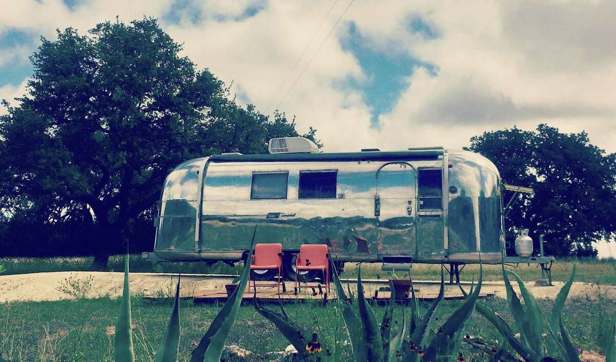 San Antonio-based Go Vintage Trailers specializes in restoring old camper caravans, such as this 1966 Airstream model owned by Mary Pat Mueller.