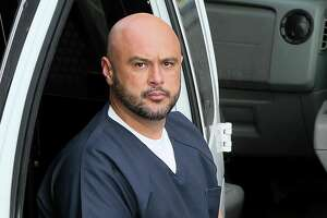 Albert DeLeon, 45, arrives for sentencing at the federal courthouse on Thursday, Sept. 26.