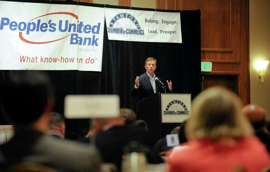 Gov. Ned Lamont delivers the keynote address at the Stamford Chamber of Commerce's 32nd annual meeting and awards ceremony at the Stamford Hilton on Sept. 26, 2019, in Stamford, Conn. Photo: Matthew Brown / Hearst Connecticut Media / Stamford Advocate