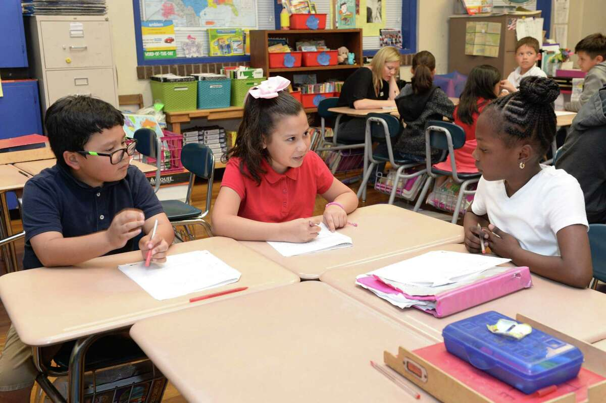 In this 2017 file photo, Field Elementary School students collaboratively work on a project in the third-grade reading and language arts class led by teacher Mary Sayegh. Houston ISD's Field Elementary received a 2019 National Blue Ribbon Award, one of the nation's highest honors in education.