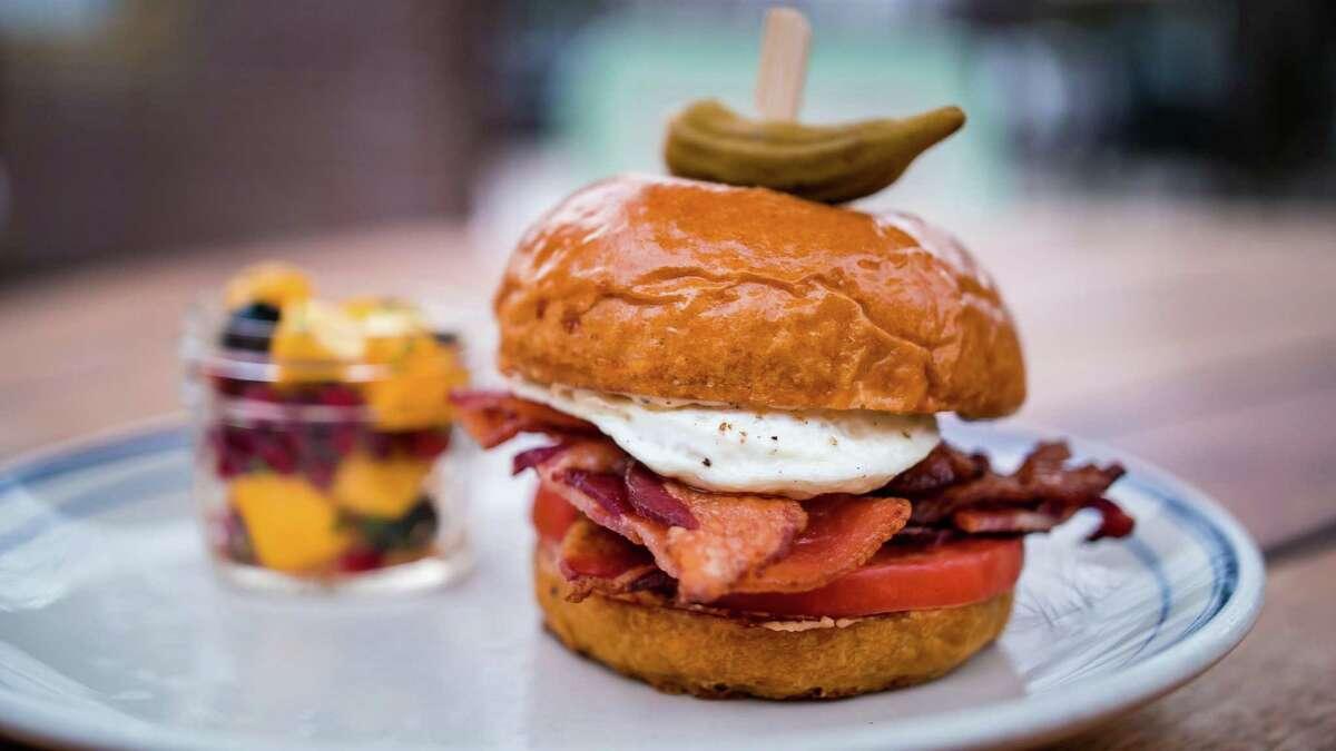 The breakfast sandwich at Ida Claire.