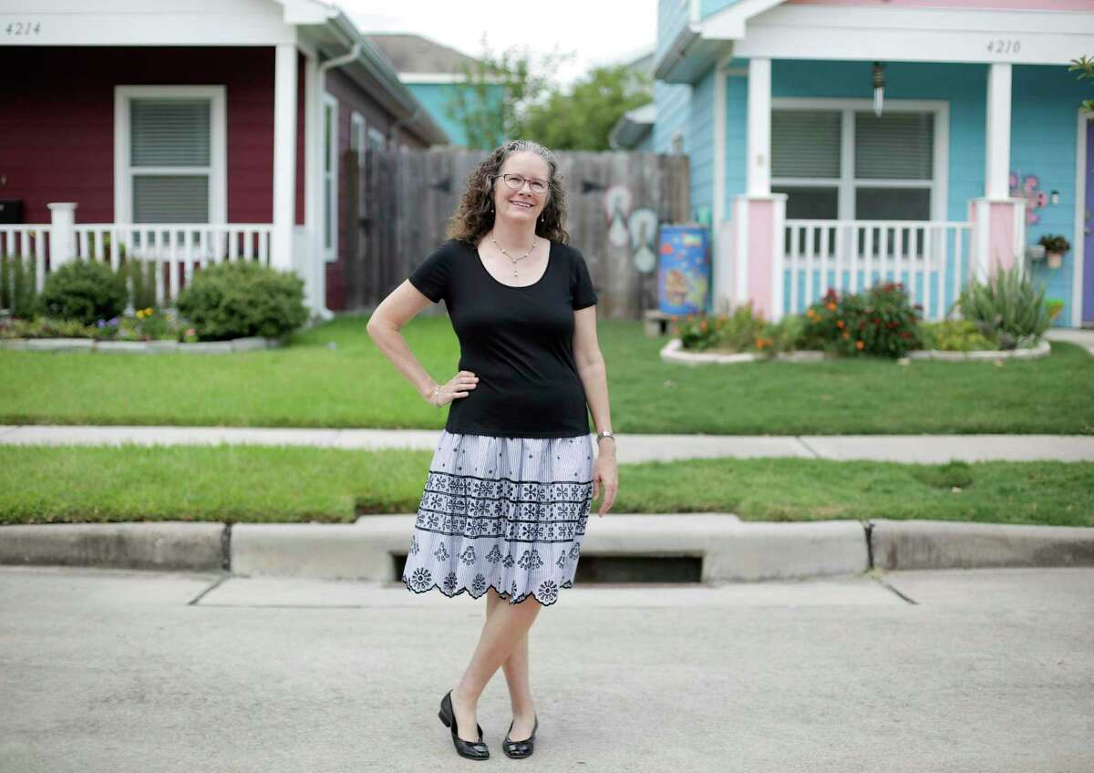 Mary Lawler, executive director of Avenue CDC, a nonprofit that develops affordable housing in Houstonat one of their developments on Thursday, Aug. 1, 2019 in Houston.