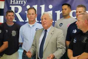 "Norwalk Mayor Harry Rilling said he is ""humbled"" to receive the endorsement of the Norwalk police and fire unions on Thursday, Sept. 26, 2019."