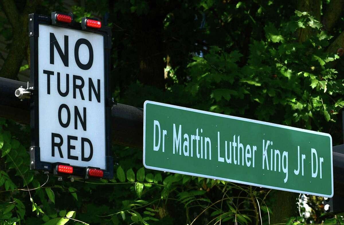 Martin Luther King Jr. Boulevard Thursday, September 26, 2019, in Norwalk, Conn.