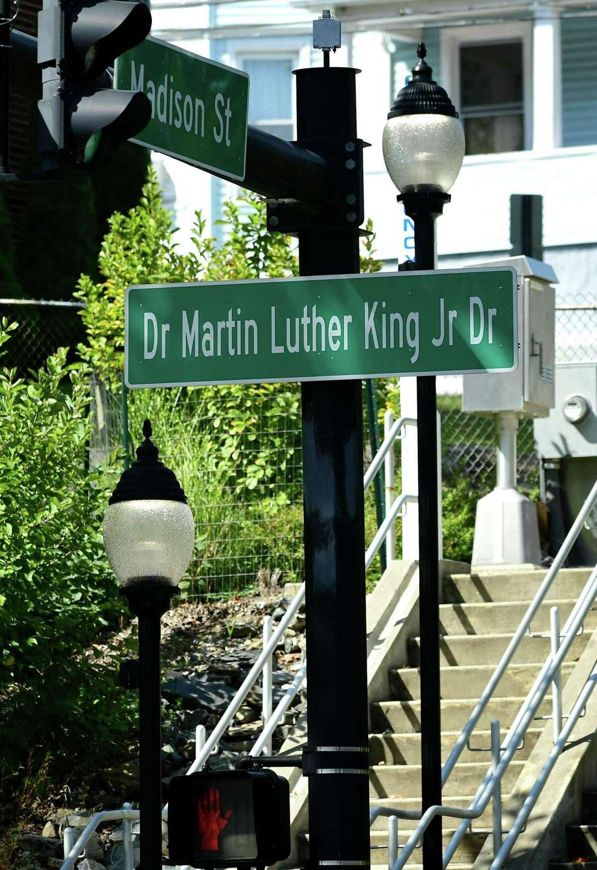 Martin Luther King Jr. Boulevard and Madison Street Thursday, September 26, 2019, in Norwalk, Conn.