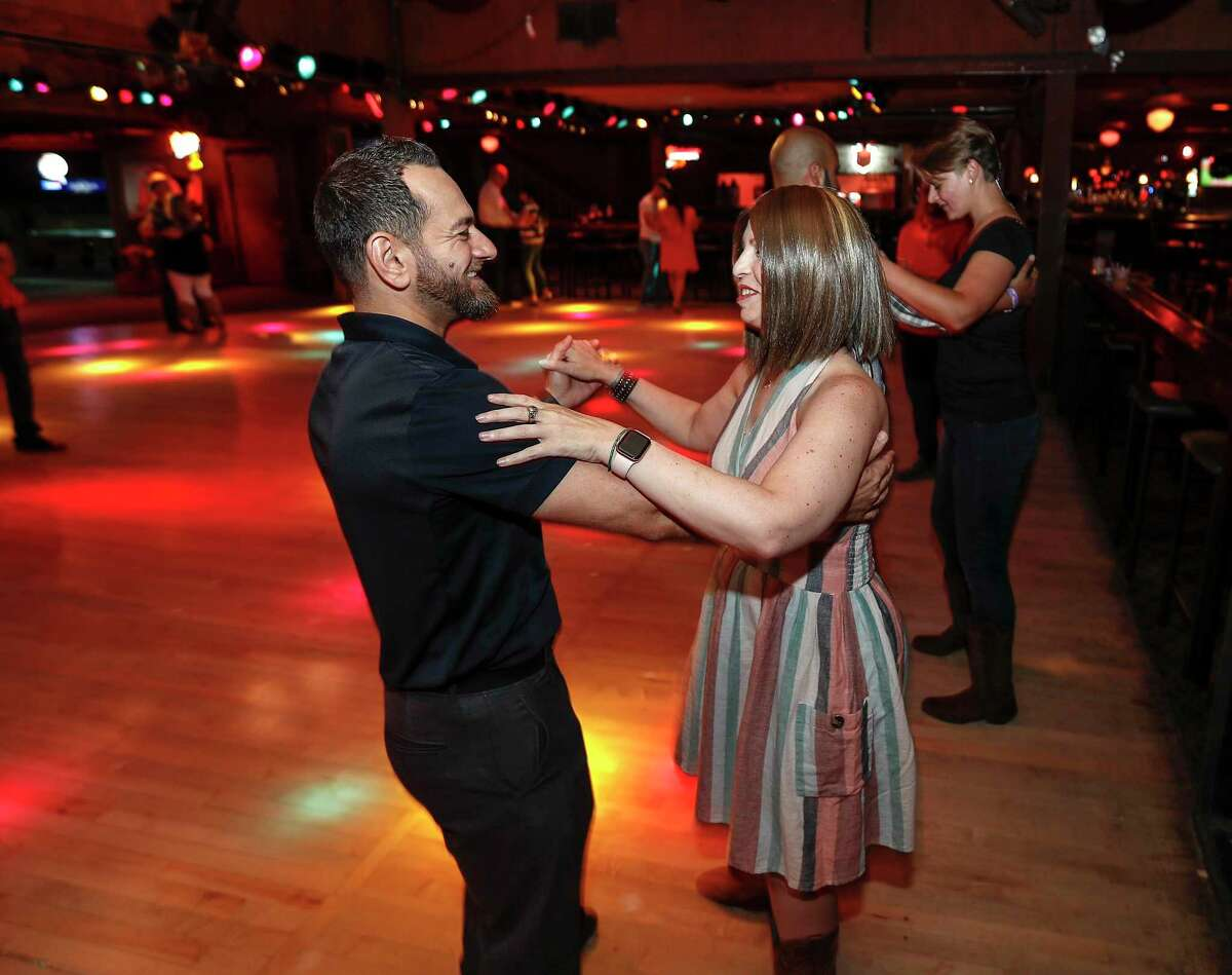 Allison Rosen learns how to swing dance with Levoun Ohan during a class at the club Wild West, Friday, August 9, 2019. Allison Rosen is a colorectal cancer survivor. She was diagnosed at 31 and has endured multiple surgeries, radiation therapy and chemo in the last seven years. She has a permanent ileostomy after almost dying from septicemia. But nothing is holding her back. She's an active volunteer at MD Anderson and still studies science for the Baylor College of Medicine.