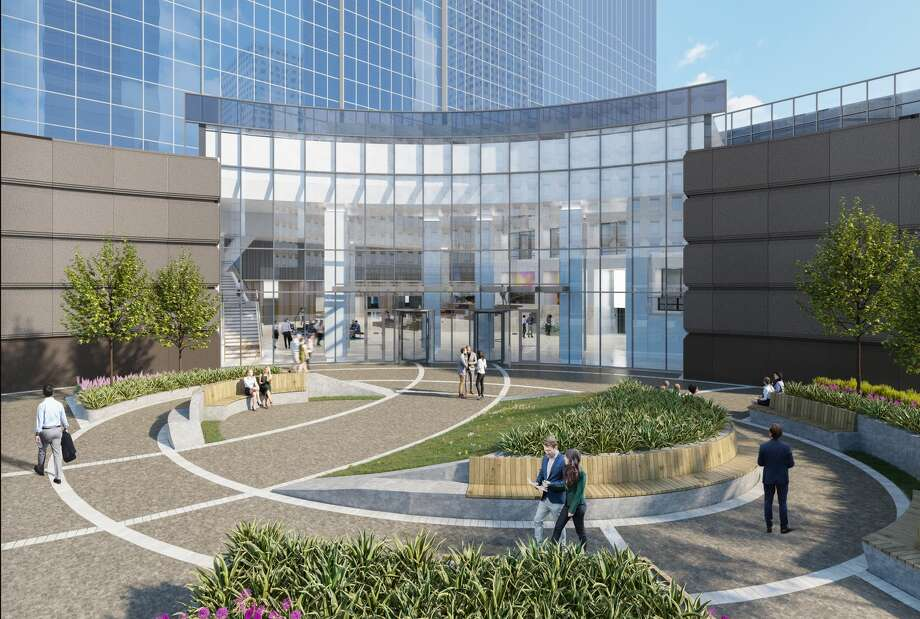 Rendering of new entrance designed for Heritage Plaza. Photo: Courtesy Of Brookfield Properties