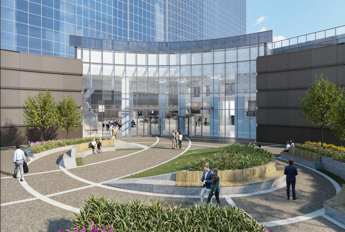 Rendering of new entrance designed for Heritage Plaza.