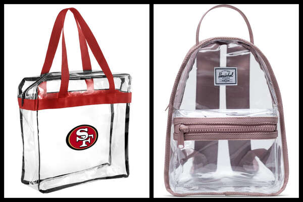 These bags are either NFL-approved dimensions for bringing into a stadium, or slightly larger and approved for music festivals.
