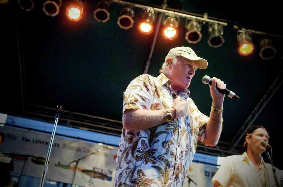 Mike Love performs with The Beach Boys Band as they wrap up the Alive@Five concert series in Columbus Park in Stamford, Conn. on Thursday August 5,  2010. Photo: Kathleen O'Rourke, Stamford Advocate / Stamford Advocate