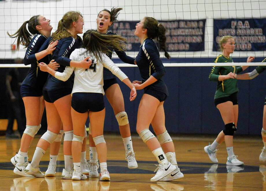 Greenwich Academy tops King 3-0 (25-19, 25-12, 25-20) in a FAA girls volleyball match at King School on Sept. 26, 2019 in Stamford, Connecticut. Photo: Matthew Brown / Hearst Connecticut Media / Stamford Advocate