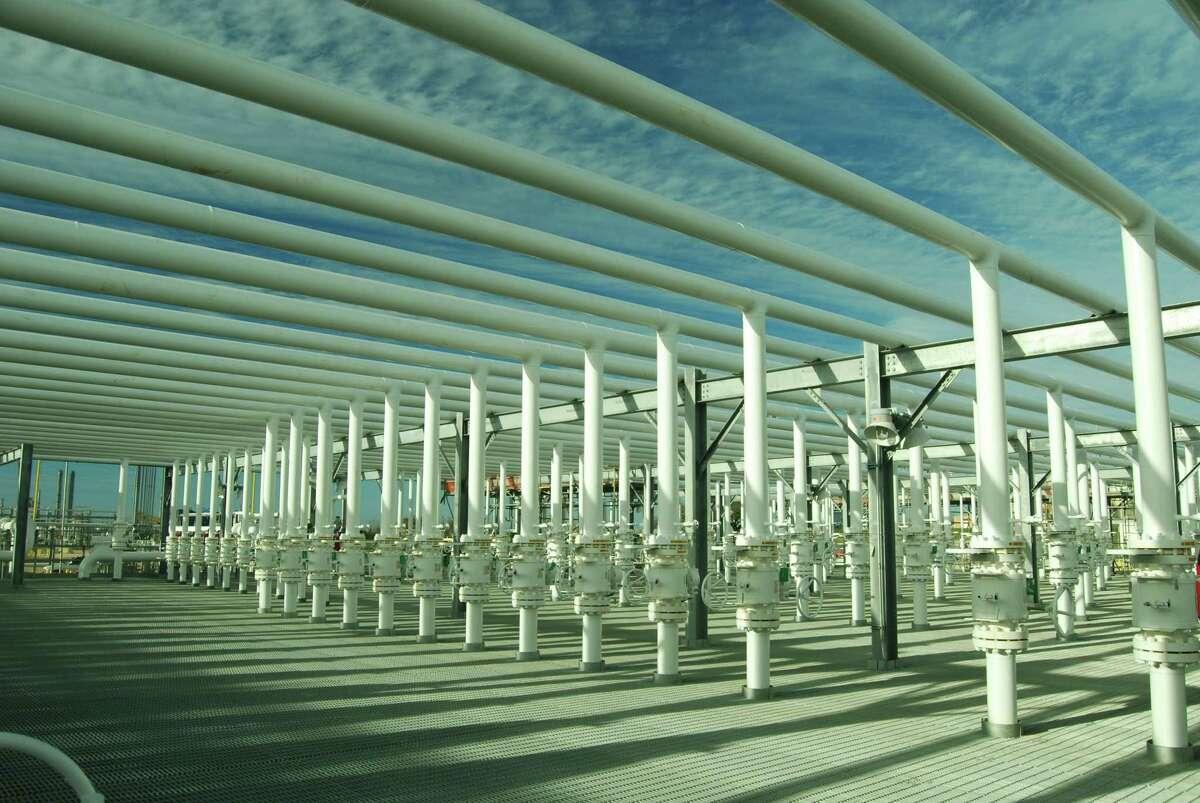 Enterprise Products Partners liquids storage facilities in Mont Belvieu, Texas.