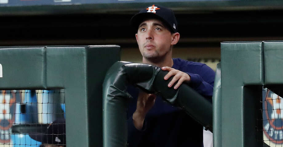 PHOTOS: Astros game-by-game Houston Astros Aaron Sanchez in the dugout before the start of the first inning of an MLB game at Minute Maid Park, Thursday, August 22, 2019. Browse through the photos to see how the Astros have fared in each game this season. Photo: Karen Warren/Staff Photographer / © 2019 Houston Chronicle