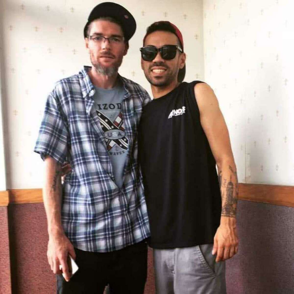 A photo of David Ramos, right, and Jason Hoffman, left, taken in August 2019.