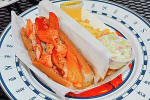 LobsterCraft, a food truck and small restaurant off Fairfield's Post Road, features the Coastal Lobster Roll, a hot-buttered lobster on a toasted roll.