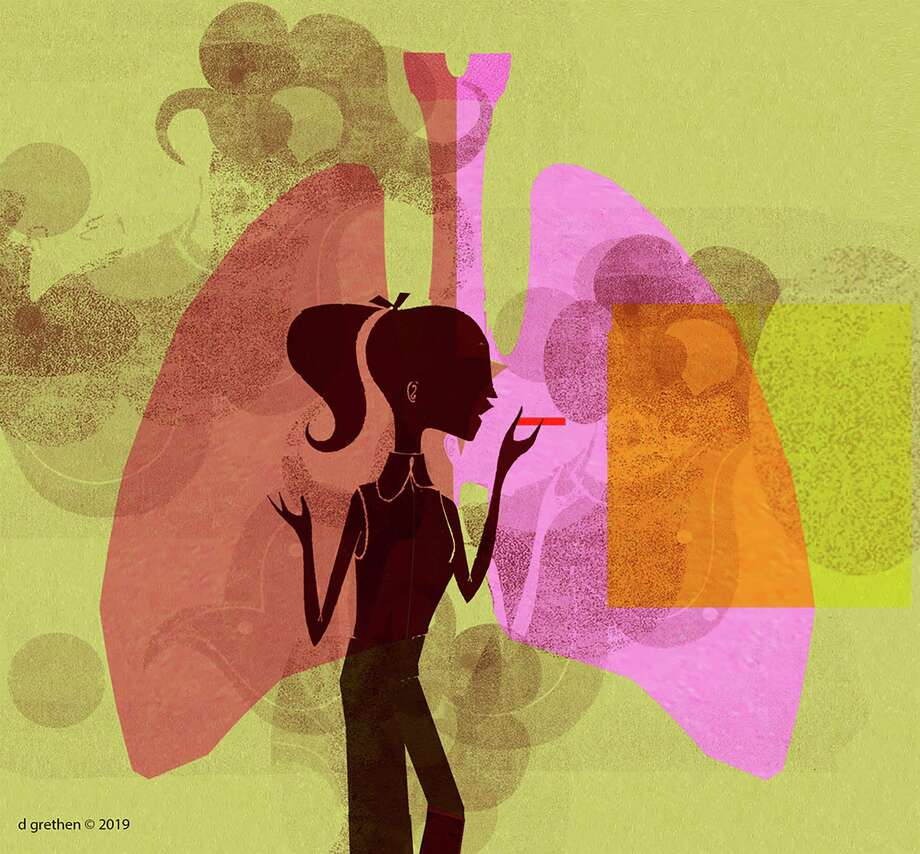 Illustration for vaping column Photo: Donna Grethen