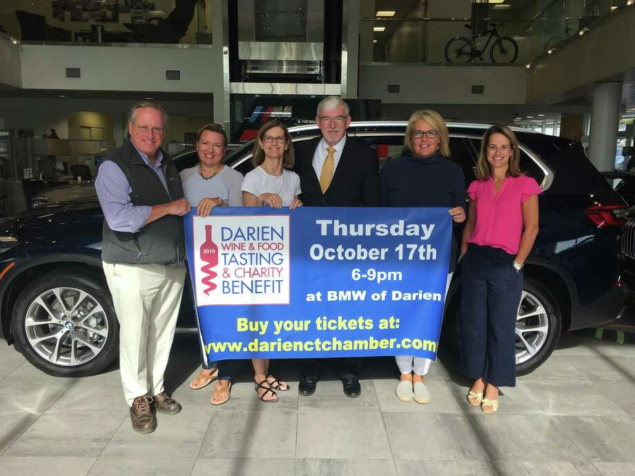 Committee members include Al Tibbetts-Event, left, co-chairman, Teresa Jandziol-DCC, Susan Cator-DCC, Matt Cosgrove-BMW of Darien, Katrina O'Connor-Darien Arts Center and Kesti Aysseh-Depot Youth Center. Photo: Darien Chamber Of Commerce