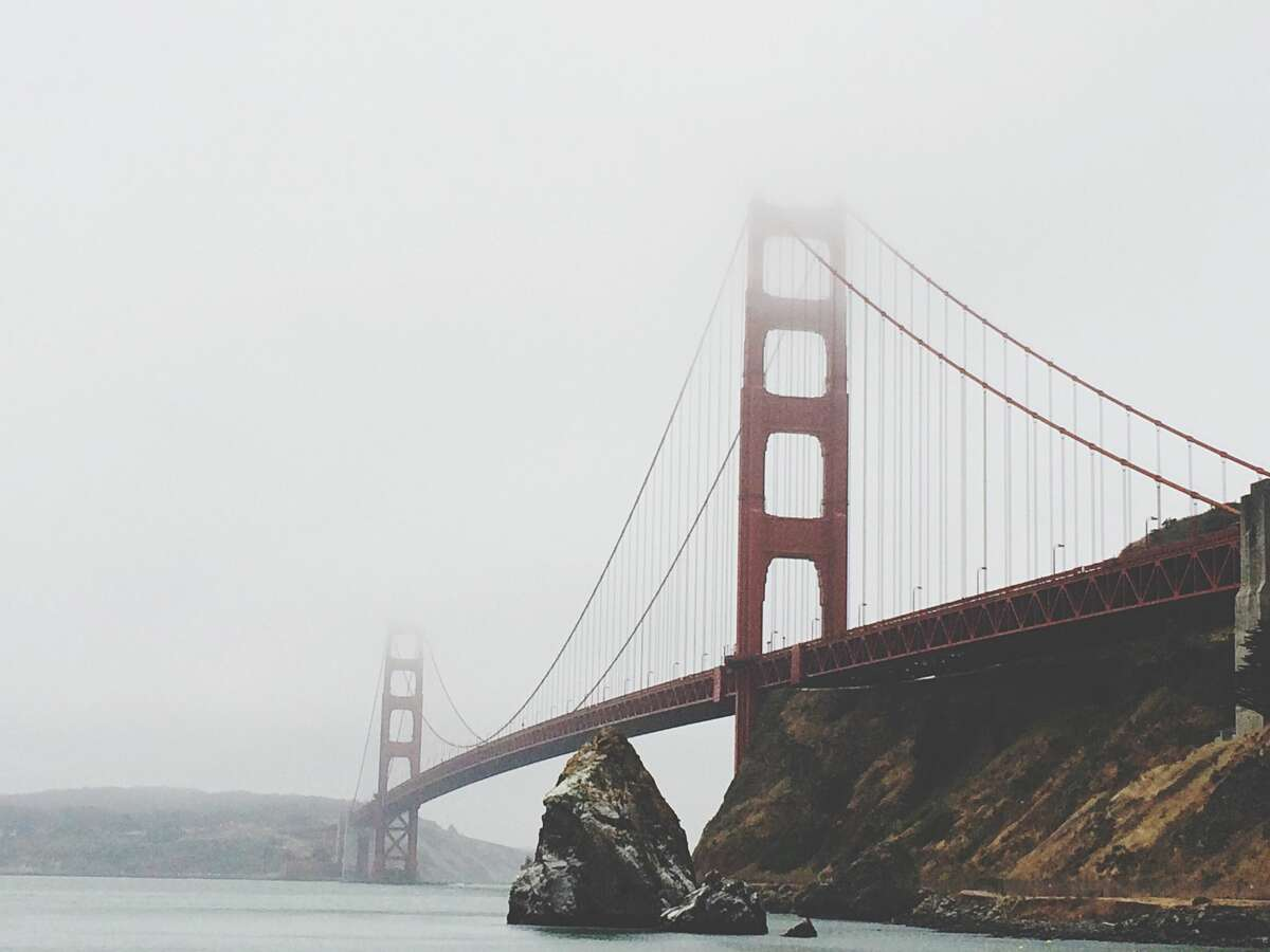 Fog rolled into San Francisco on Tuesday morning.