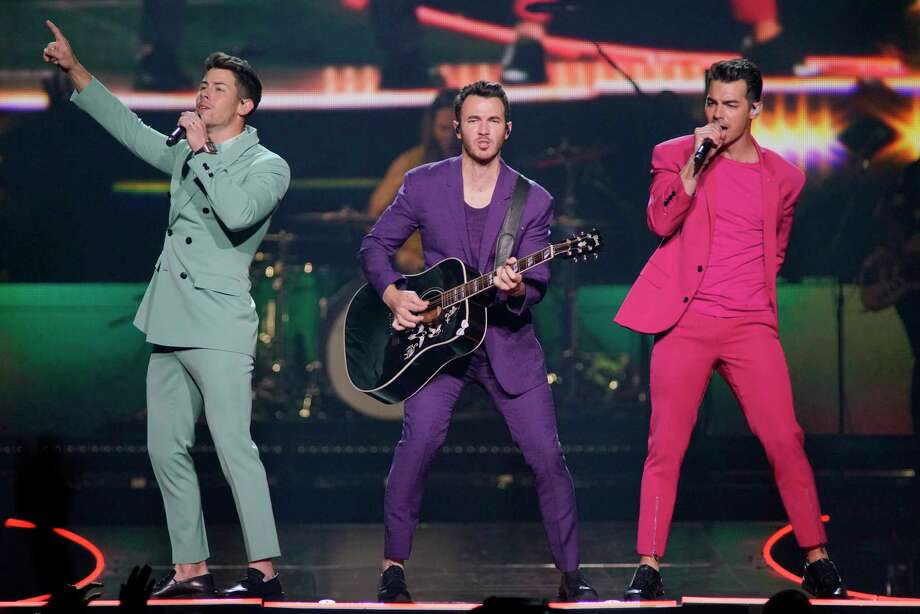 """The Jonas Brothers: It's family reunion time for Nick, Kevin and Joe Jonas, one-time Disney phenoms who have been pursuing grown-up lives and solo ventures in the decadesince the last Jonas Brothers album, """"Happines Begins,"""" is the occasion for this album, but they'll also take fans back to the days of """"Burnin' Up"""" and """"Love Bug."""" 7:30 p.m. Friday, AT&T Center, 1 AT&T Center Parkway at East Houston Street. $59.95-$566. attcenter.com — Jim Kiest Photo: Rob Grabowski /Associated Press / Invision"""