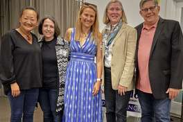 From left, Youn Su Chao, Lee Goldstein, Sheri Gordon, Nancie Dupier and Paul Lebowitz at the opening of the Westport DTC's 2019 headquarters on Sept. 20.