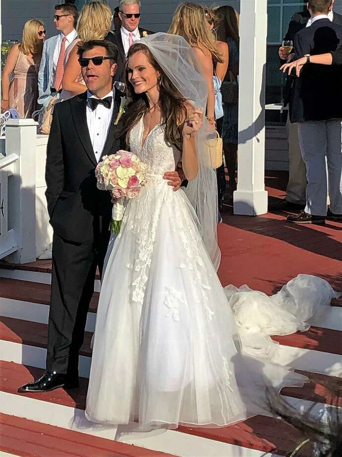 Linda Moran and James Keeshan Jr., of Stamford, were married on June 15, 2019 at The Spring House Hotel on Block Island, Rhode Island. Photo: Contributed Photo
