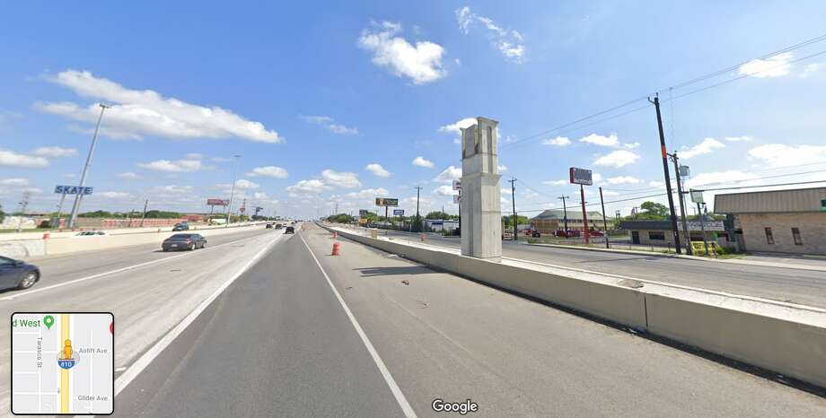 In conjunction with the Texas Department of Transportation, work is scheduled at Loop 410 and Airlift Avenue from 6 a.m. to 3 p.m., and at Loop 410 near E. Southcross Boulevard from 7 to 11 a.m. Photo: Google Maps