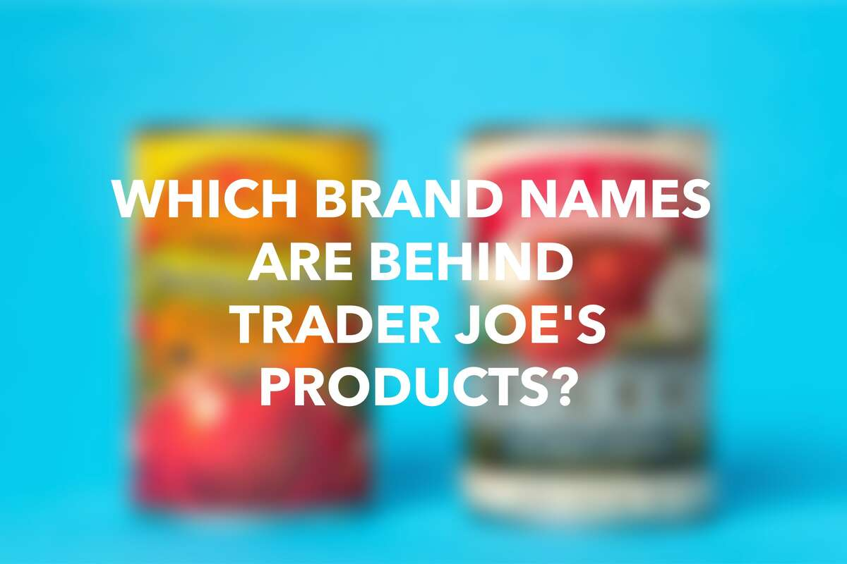 Click through the gallery to see how brand name items compare with Trader Joe's.