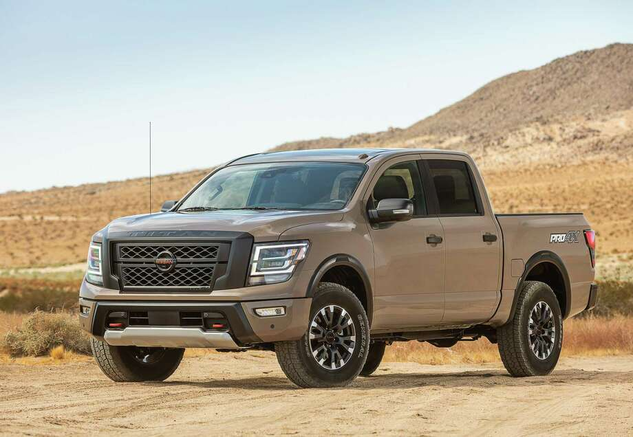 The revamped Titan, still in its second generation, sports a new face with bold grille and headlight treatments, and new rear lights and tailgate.