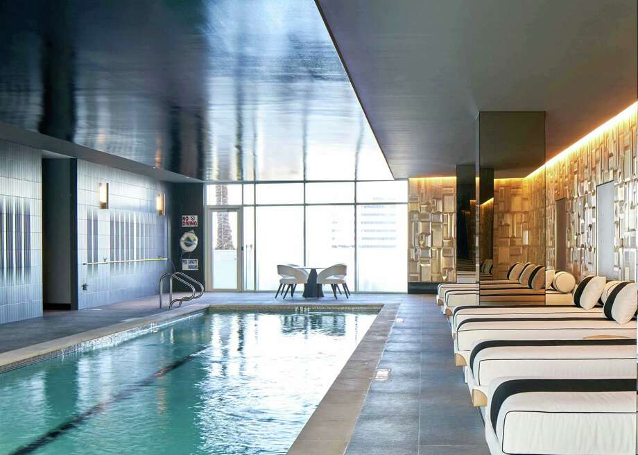 The indoor pool at Arabella is both invigorating and relaxing. Photo: Dror Baldinger FAIA / Dror Baldinger FAIA / Dror Baldinger FAIA