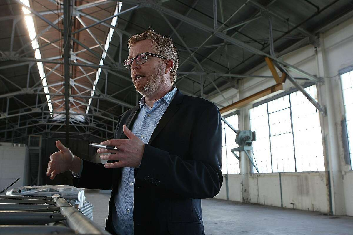Rich Hillis, executive director of Fort Mason Center looks at the possibilities for Pier 1 in Fort Mason, San Francisco, Calif., on Thursday, January 5, 2012. Presently being used for storage, pier 1 is 46,000 square feet.