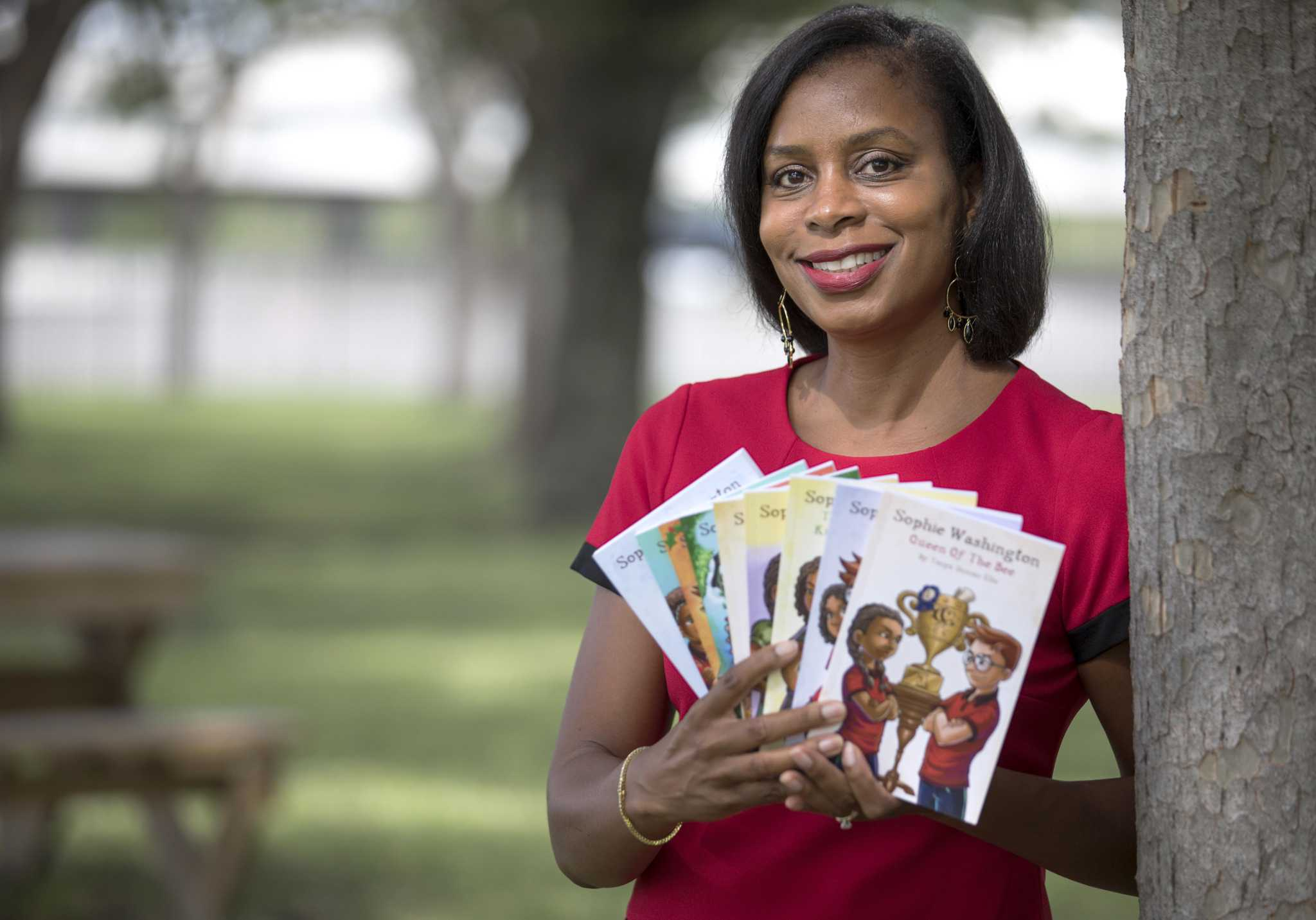 Author's Sophie Washington character is an adventurous black girl from Houston