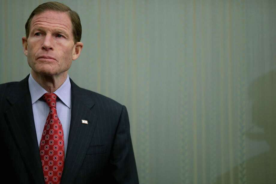 Sen. Richard Blumenthal (D-CT) participates in a news conference to highlight the benefits of raising the national minimum wage. Photo: Chip Somodevilla / Getty Images / 2014 Getty Images
